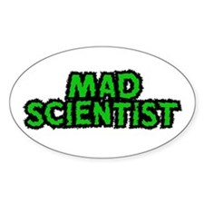 Mad Scientist Oval Decal