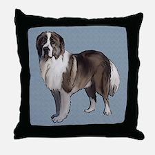 Caucasian Ovcharka portrait Throw Pillow
