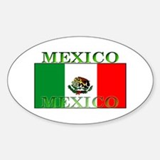 Mexico Mexican Flag Oval Decal