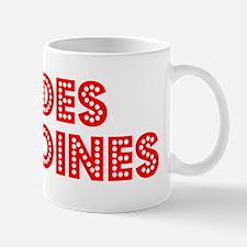 Retro Des Moines (Red) Mug