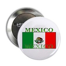 Mexico Mexican Flag Button