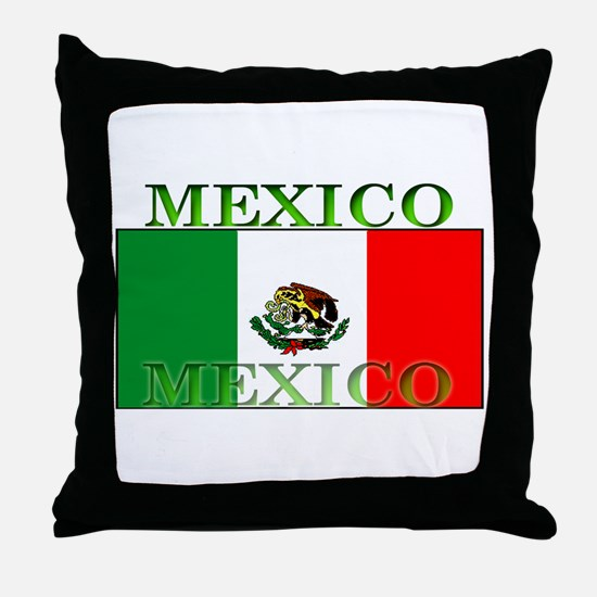 Mexico Mexican Flag Throw Pillow