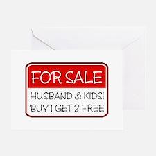 4SALE HUSB/KIDS (red) Greeting Card