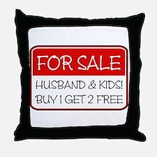 4SALE HUSB/KIDS (red) Throw Pillow