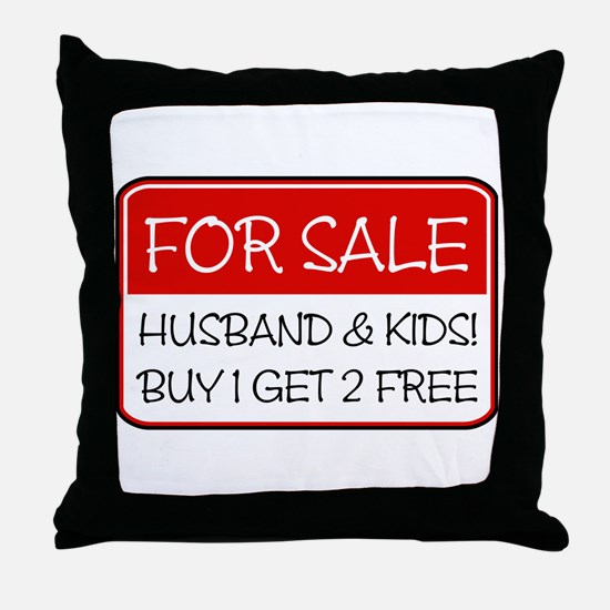 4SALE HUSB/KIDS (red) Throw Pillow