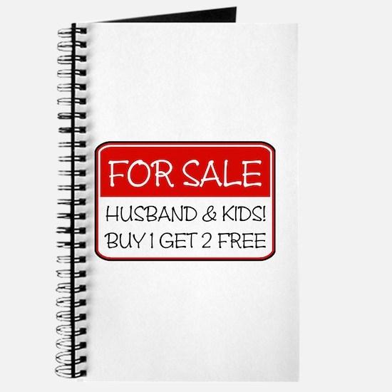 4SALE HUSB/KIDS (red) Journal