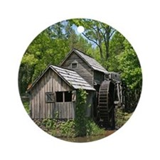 Mabry Mill Ornament (Round)