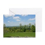 Spring blue ridge mountains card Greeting Cards (10 Pack)