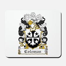 Coleman Family Crest Mousepad