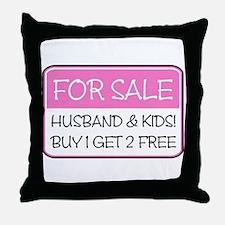4SALE HUSB/KIDS (pnk) Throw Pillow