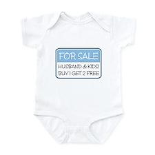 4SALE HUSB/KIDS (blue) Infant Bodysuit