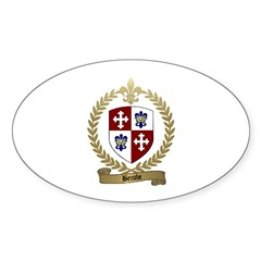 BERUBE Family Crest Oval Decal