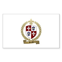 BERUBE Family Crest Rectangle Decal