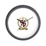 BERUBE Family Crest Wall Clock