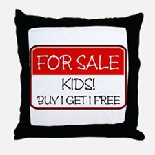 FOR SALE: KIDS! (red) Throw Pillow