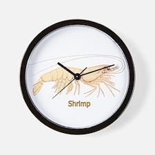 Shrimp (titled) Wall Clock