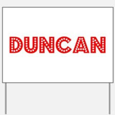 Retro Duncan (Red) Yard Sign