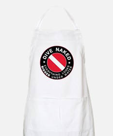 Dive Naked Bigger Under Water BBQ Apron