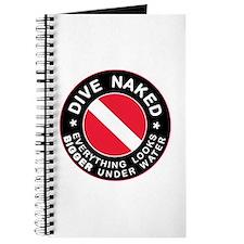 Dive Naked Bigger Under Water Journal