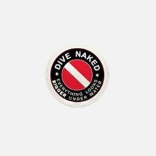 Dive Naked Bigger Under Water Mini Button (10 pack