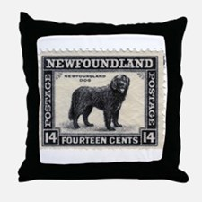 Newfoundland Stamp Throw Pillow