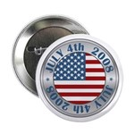 "4th of July Souvenir Flag 2.25"" Button (10 pack)"