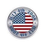 "4th of July Souvenir Flag 3.5"" Button"
