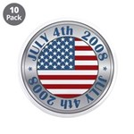 "4th of July Souvenir Flag 3.5"" Button (10 pack)"