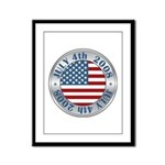 4th of July Souvenir Flag Framed Panel Print