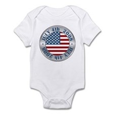 4th of July Souvenir Flag Infant Bodysuit
