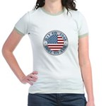 4th of July Souvenir Flag Jr. Ringer T-Shirt