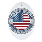 4th of July Souvenir Flag Oval Ornament