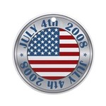 4th of July Souvenir Flag Ornament (Round)