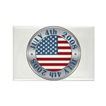 4th of July Souvenir Flag Rectangle Magnet (10 pac