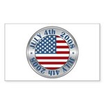 4th of July Souvenir Flag Rectangle Sticker 10 pk