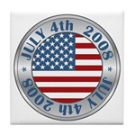 4th of July Souvenir Flag Tile Coaster