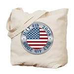 4th of July Souvenir Flag Tote Bag