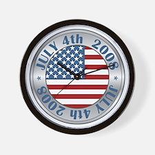 4th of July Souvenir Flag Wall Clock
