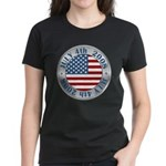 4th of July Souvenir Flag Women's Dark T-Shirt