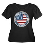 4th of July Souvenir Flag Women's Plus Size Scoop