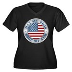 4th of July Souvenir Flag Women's Plus Size V-Neck