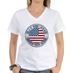 4th of July Souvenir Flag Women's V-Neck T-Shirt