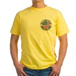 4th of July Souvenir Flag Yellow T-Shirt