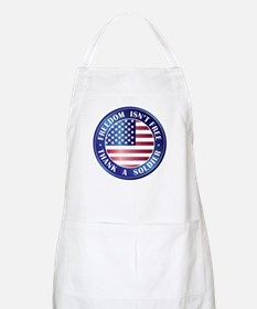 Freedom Isn't Free Thank Soldier BBQ Apron