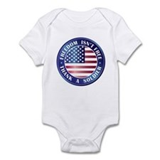 Freedom Isn't Free Thank Soldier Infant Bodysuit