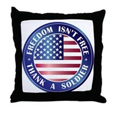 Freedom Isn't Free Thank Soldier Throw Pillow