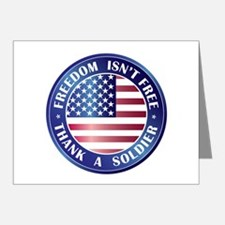 Freedom Isn't Free Thank Soldier Note Cards (Pk of