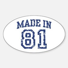 Made in 81 Oval Decal