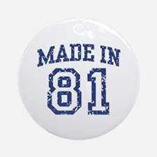 Made in 81 Ornament (Round)