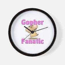 Gopher Fanatic Wall Clock